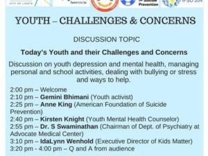 APRIL 2018 TALK – YOUTH : CHALLENGES & CONCERNS